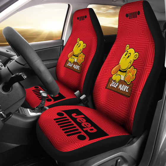 Jeep Grill Seat Covers-Eugene The Jeep-Red/Black