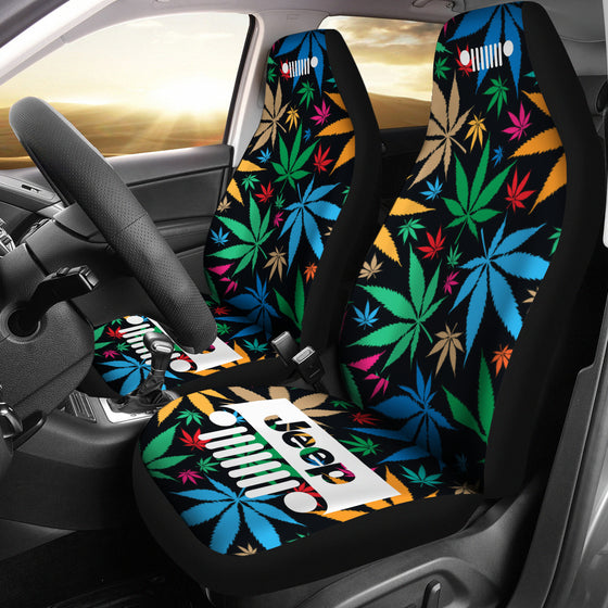 Jeep Grill Seat Covers-Happy Leaves