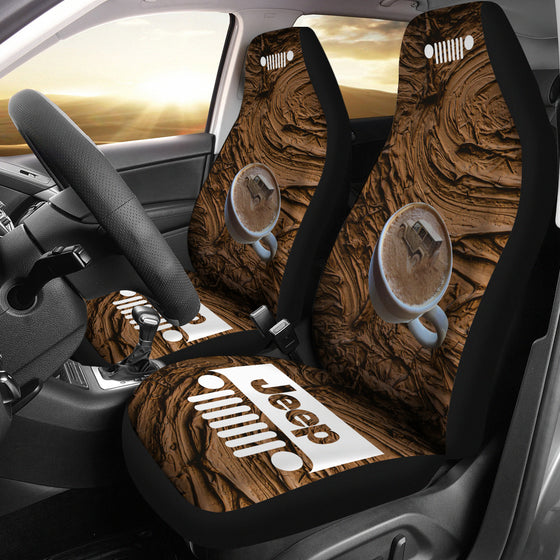 Jeep Grill Seat Covers - Mud Coffee Cup