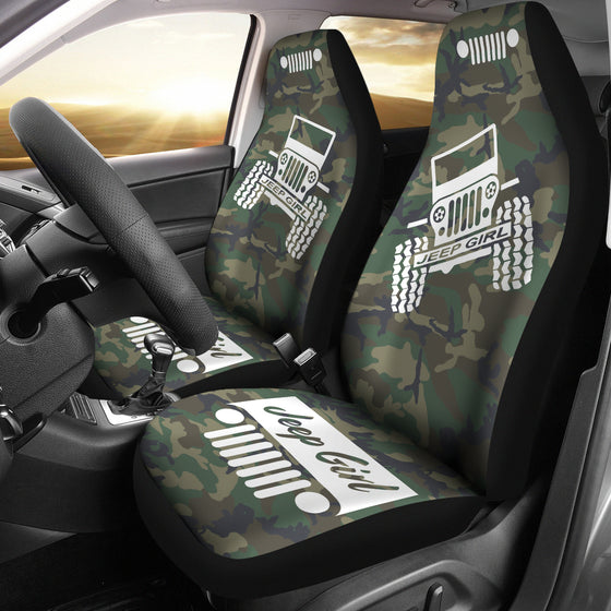 JeepGirl Offroad - Seat Cover White/Camouflage Woodland