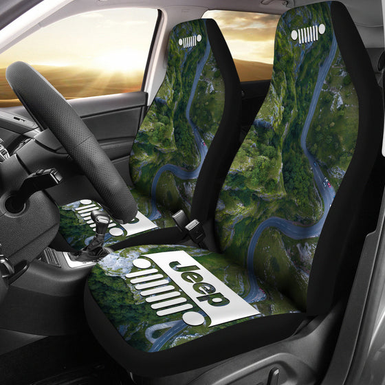 Jeep Grill Seat Cover - Winding Road