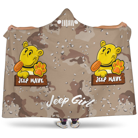 JeepGirl Hooded Blanket-Jeep Wave Desert Camo