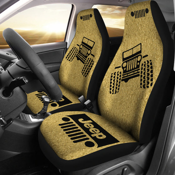 Jeep OffRoad - Car Seat Cover Tan/Black Dirt Pattern