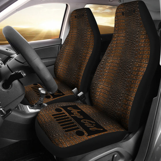 JeepGirl Seat Cover - Alligator Dark Tan