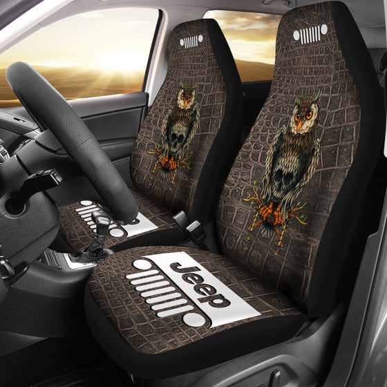 Jeep Seat Cover - Alligator OwlSkull