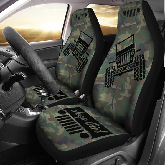 JeepGirl Offroad - Seat Cover Black/Camouflage Woodland