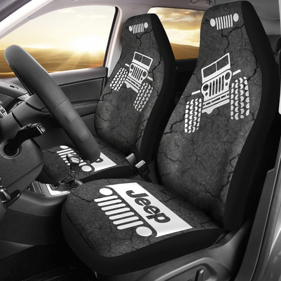Jeep OffRoad - Seat Cover Gray/White Cracked Mud