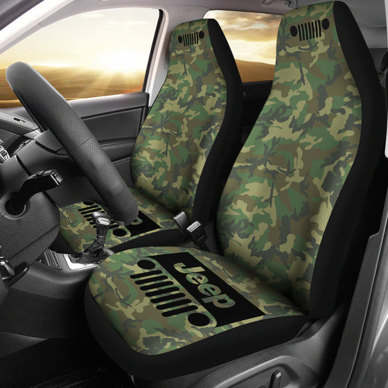Jeep Grill - Seat Cover Woodland Camo