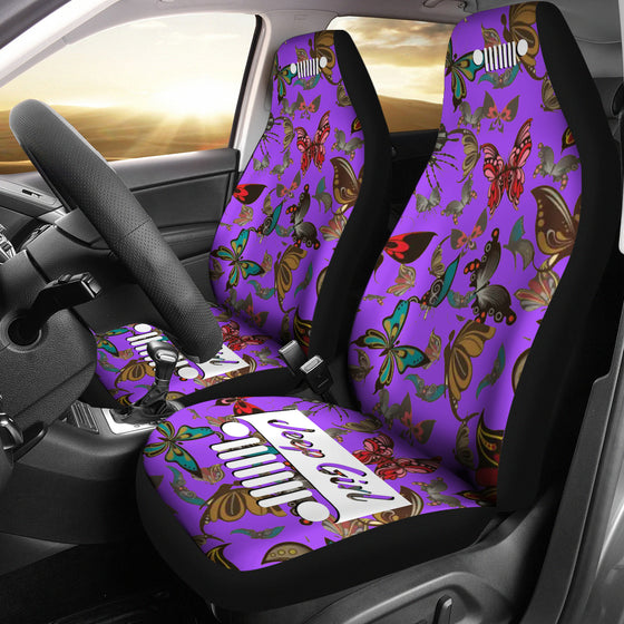 JeepGirl Seat Cover - Butterflies Purple