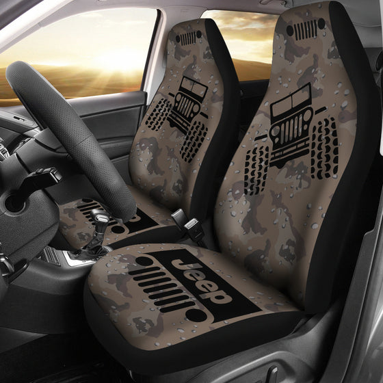 Jeep Offroad - Seat Cover Black/Camouflage Desert Dark