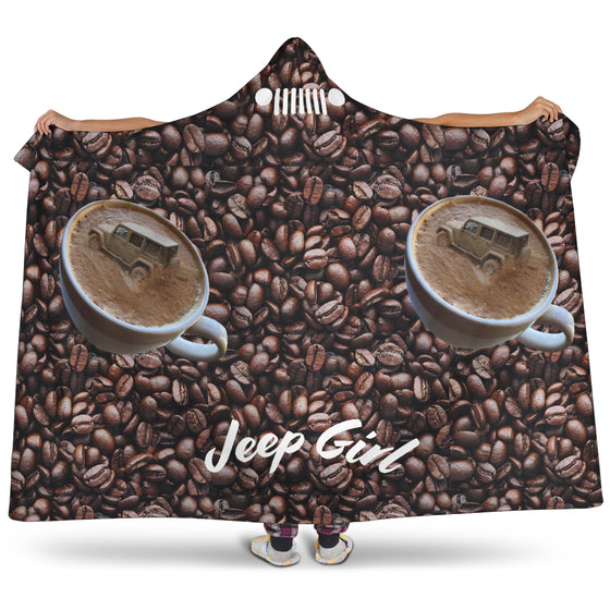 JeepGirl Hooded Blanket Coffee Beans/Cup