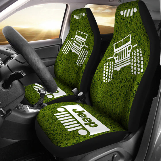 Jeep OffRoad - Car Seat Cover DabOlive/White Dirt