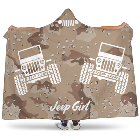 Hooded Blanket JeepGirl Desert Camo