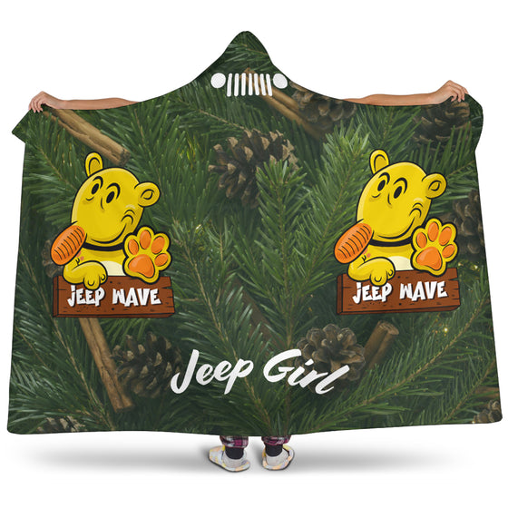 JeepGirl Hooded Blanket-Jeep Wave Pine Needles