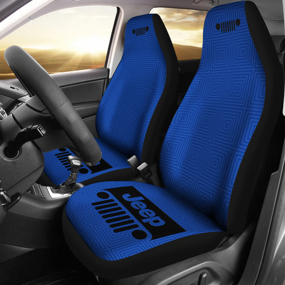 Jeep Grill - Seat Cover - AIrForce Blue -Patterned