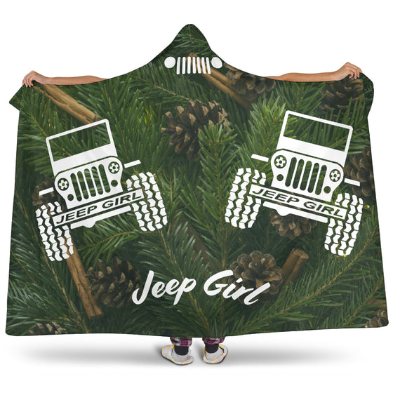 JeepGirl-HoodedBlanket - Pine Needles