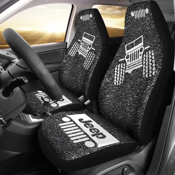 Jeep OffRoad - Seat Cover Gray/White Asphalt