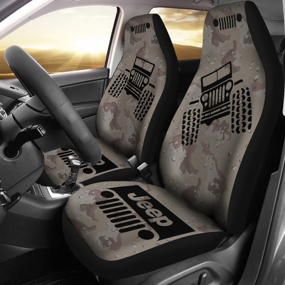 Jeep Offroad - Seat Cover Black/Camouflage Desert