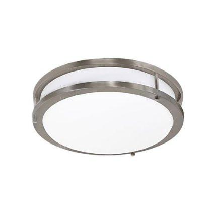 Jesco CM403S-30-BN Contemporary Round Led Ceiling & Ada Wall Mount - JescoStore