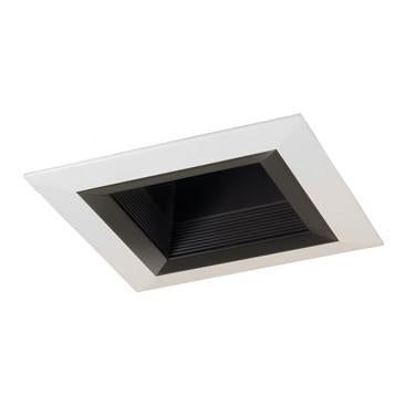 "Jesco Lighting RLT-4003-BK-WH 4"" Standard Square Step BaffleTrim - JescoStore"