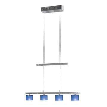 Jesco Lighting CBP305-4CB 4-Light Crystal Counter Balance Pendant, Cobalt Blue - JescoStore