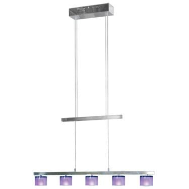 Jesco Lighting CBP305-5AY 5-Light Crystal Counter Balance Pendant, Amethyst - JescoStore