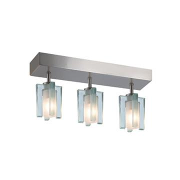 Jesco Lighting CM301-3R The AKINA features a charming 4-point glass element, set perpendicularly over a frosted cylindrical core - Peazz.com