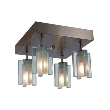 Jesco Lighting CM301-4S Akina 4-Light Ceiling Mount Pendant, Satin Nickel - JescoStore