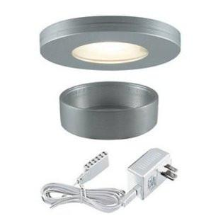 Jesco Lighting KIT-PK501-BA-A Xenon Straight Edged Slim Disk with Frosted Glass Lens Kit-Brushed Aluminum - Peazz.com