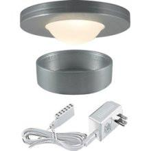 Jesco Lighting KIT-PK503-BA-A Xenon Straight Edged Slim Disk with Dipped Frosted Glass Lens Kit-Brushed Aluminum - Peazz.com