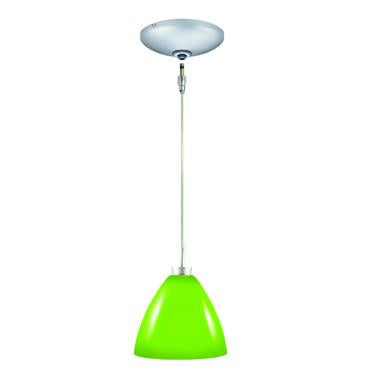 Jesco Lighting KIT-QAP119-CS-A Dora Pendant-Satin Chrome finish-Glossy cased glass, opal matte interior-Monopoint Round Canopy - JescoStore