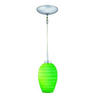Jesco Lighting KIT-QAP120-EM-A Chelsea Pendant-Satin Chrome finish-Glossy cased glass with banding detail-Monopoint Round Canopy - JescoStore