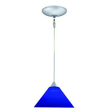 Jesco Lighting KIT-QAP214-BU-A Selma Pendant-Satin Chrome finish-Conical cased glass-Monopoint Round Canopy - JescoStore