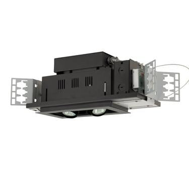 Jesco Lighting MG1650-2ESB Two-Light Double Gimbal Linear Recessed Low Voltage Fixture - Peazz.com
