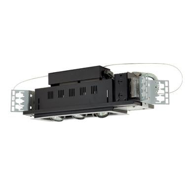 Jesco Lighting MG1650-3ESB Three-Light Double Gimbal Linear Recessed Low Voltage Fixture - Peazz.com