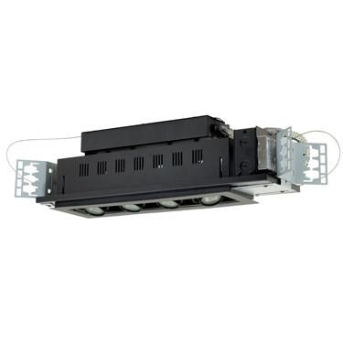Jesco Lighting MG1650-4ESB Four-Light Double Gimbal Linear Recessed Low Voltage Fixture - Peazz.com