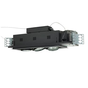 Jesco Lighting MGA175-3ESB Three-Light Double Gimbal Linear Recessed Low Voltage Fixture - Peazz.com