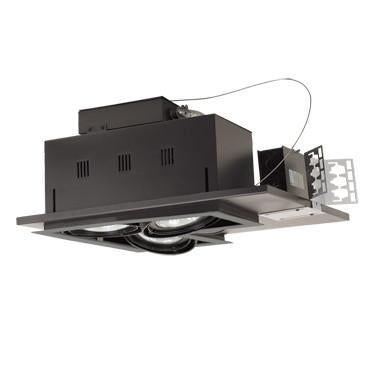 Jesco Lighting MGP30-3LSB Three-Light Double Gimbal Linear Recessed Line Voltage Fixture - Peazz.com