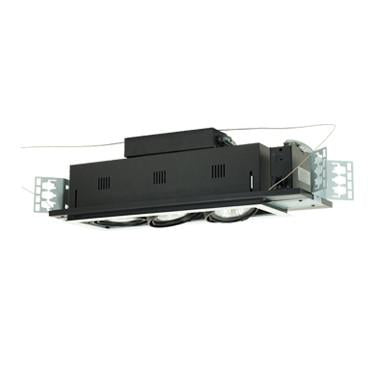 Jesco Lighting MGP30-3WB Three-Light Double Gimbal Linear Recessed Line Voltage Fixture - Peazz.com
