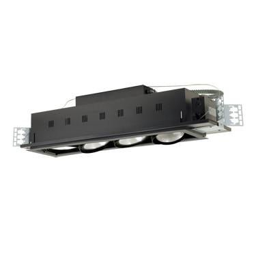 Jesco Lighting MGP38-4SB Four-Light Double Gimbal Linear Recessed Line Voltage Fixture - Peazz.com