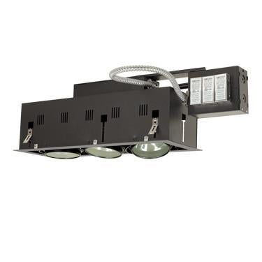 Jesco Lighting MGRA175-3ESB Three-Light Double Gimbal Linear Recessed Fixture Low Voltage - Peazz.com