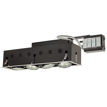 Jesco Lighting MGRA175-4ESB Four-Light Double Gimbal Linear Recessed Fixture Low Voltage - Peazz.com