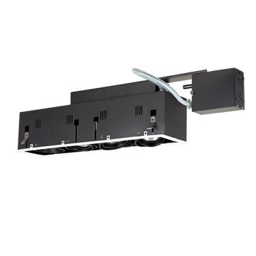 Jesco Lighting MGRP20-4WB Four-Light Double Gimbal Linear Recessed Fixture Line Voltage - Peazz.com