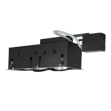Jesco Lighting MGRP38-3SB Three-Light Double Gimbal Linear Recessed Fixture Line Voltage - Peazz.com