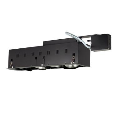 Jesco Lighting MGRP38-4SB Four-Light Double Gimbal Linear Recessed Fixture Line Voltage - JescoStore