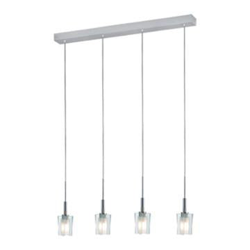 Jesco Lighting PD301-4 Akina Series 301 4-Light Pendant, Satin Nickel - JescoStore