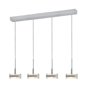 Jesco Lighting PD302-4BI The attractive DISCUS element offers a choice of glass, chrome, or birch wood accent - Peazz.com