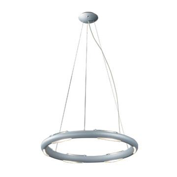 Jesco Lighting PD601 The Cirque collection includes an adjustable circular 6-light dimmable pendant and a matching wall sconce in a beautiful matte aluminum finish - Peazz.com