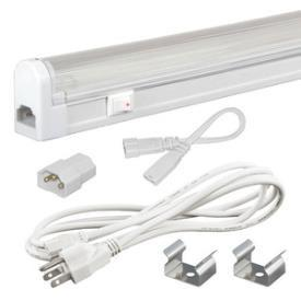 Jesco Lighting SG5-CPS-28-41-W SLEEK PLUS 28W W/SWITCH 4100K-3-WIRE 6' POWER CORD - Peazz.com