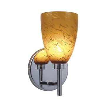 Jesco Lighting WS220-AR/SN The GOBLET series consists of Wall Sconces and Quick Adapt Pendants in onyx and glass finishes - Peazz.com